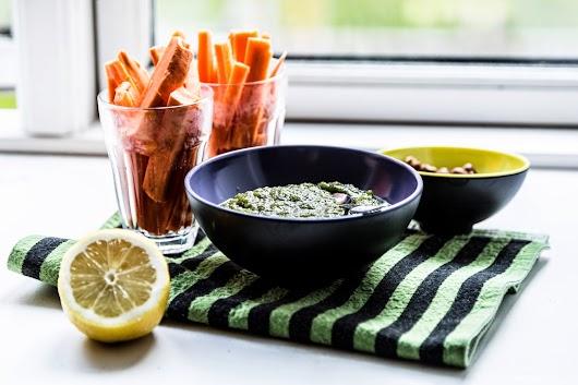 Pesto med ramsløg og persille - Mikkel Bækgaards Madblog