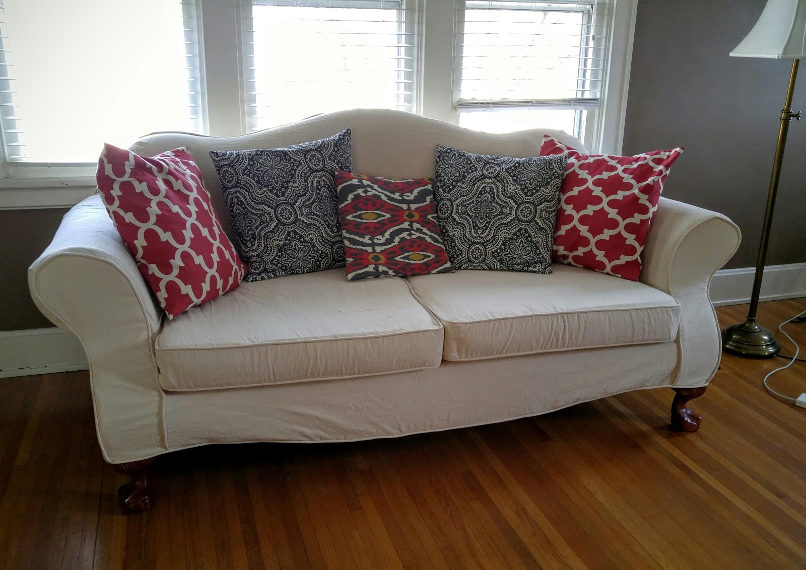 camelback sofa cover spray paint leather slipcovers 3 cushion pictures to pin on