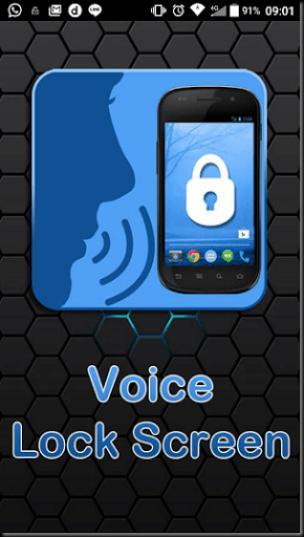 locksreen smartphone android dengan suara
