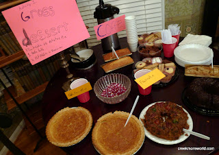 Contest #1:  Gross Dessert.  Is Irish Potato Pie or Fruitcake the grossest?  Fruitcake won!
