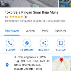 Distributor Baja Ringan Bekasi Utara Toko Sinar Mulia Koja Jakarta
