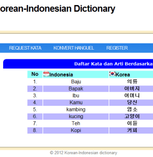 Kamus Korea Indonesia