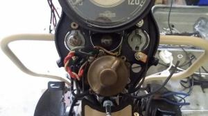 1941 Harley Davidson WL Restoration : Connecting the Dashboard Wires