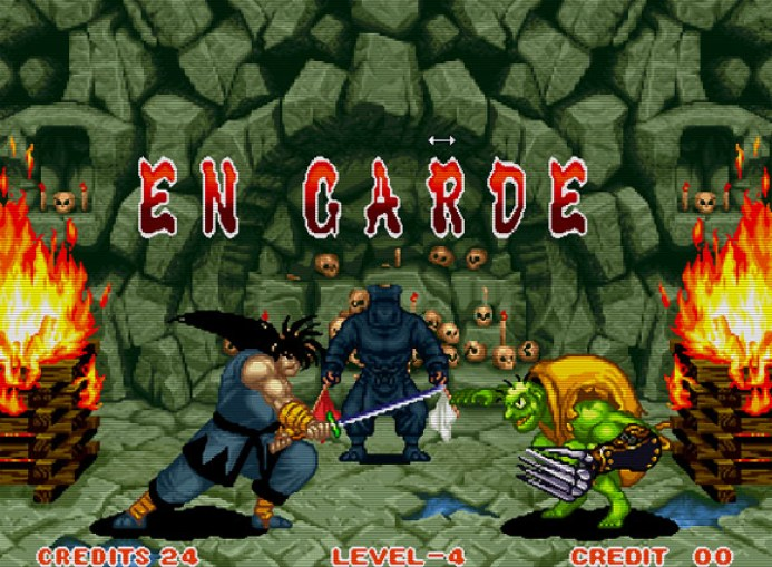 Haohmaru enfrenta Gen-An, um misto de Freddy Kruegger com sapo