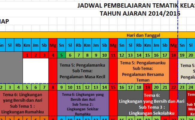 Contoh Jadwal Pelajaran Sd Kurikulum 2013 Sahabat Guru Cute766