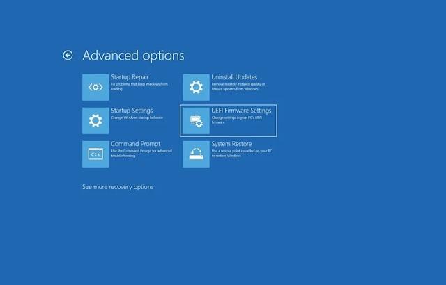 Cách vào BIOS (UEFI Firmware Settings)