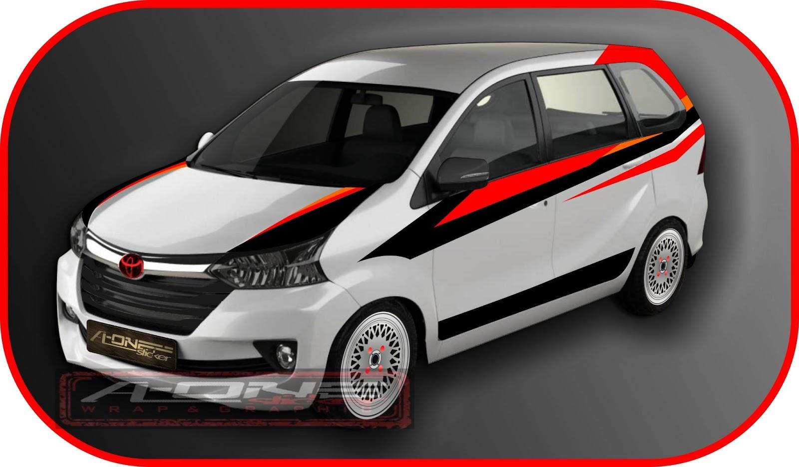 cutting sticker grand new avanza interior veloz 1.5 top mobil toyota tahun ini modif modifikasi stiker hitam ottomania86