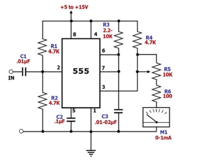 the 555 monostable circuit