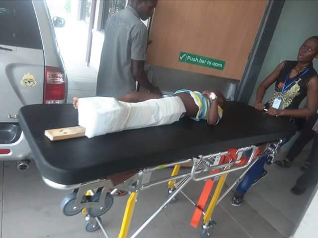 Pathfinder Jeep Knocks Down Child Going For Children Day Party In Yenagoa(Pics)
