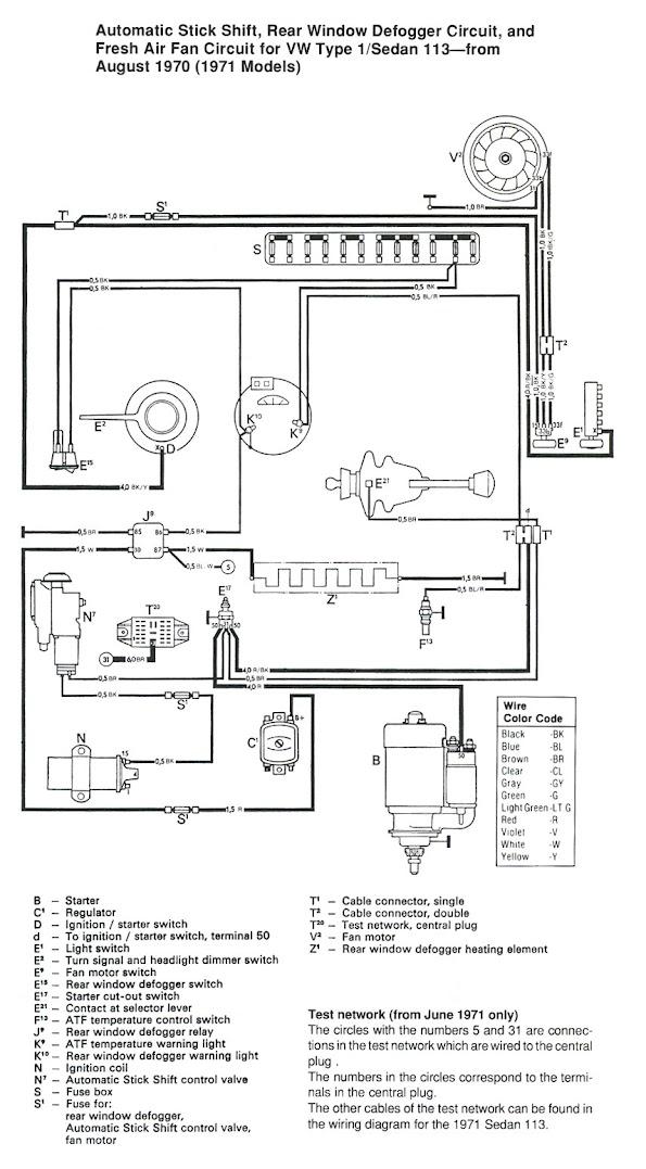 1971 super beetle wiring diagram fan