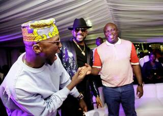Banky W,King Sunny Ade,Ambode & His Wife At Lagos Golden Jubilee Concert(Photos)