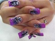 latest black and purple acrylic