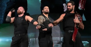 Dean Ambrose, Roman Reigns and Seth Rollins after the Shield's Final Act