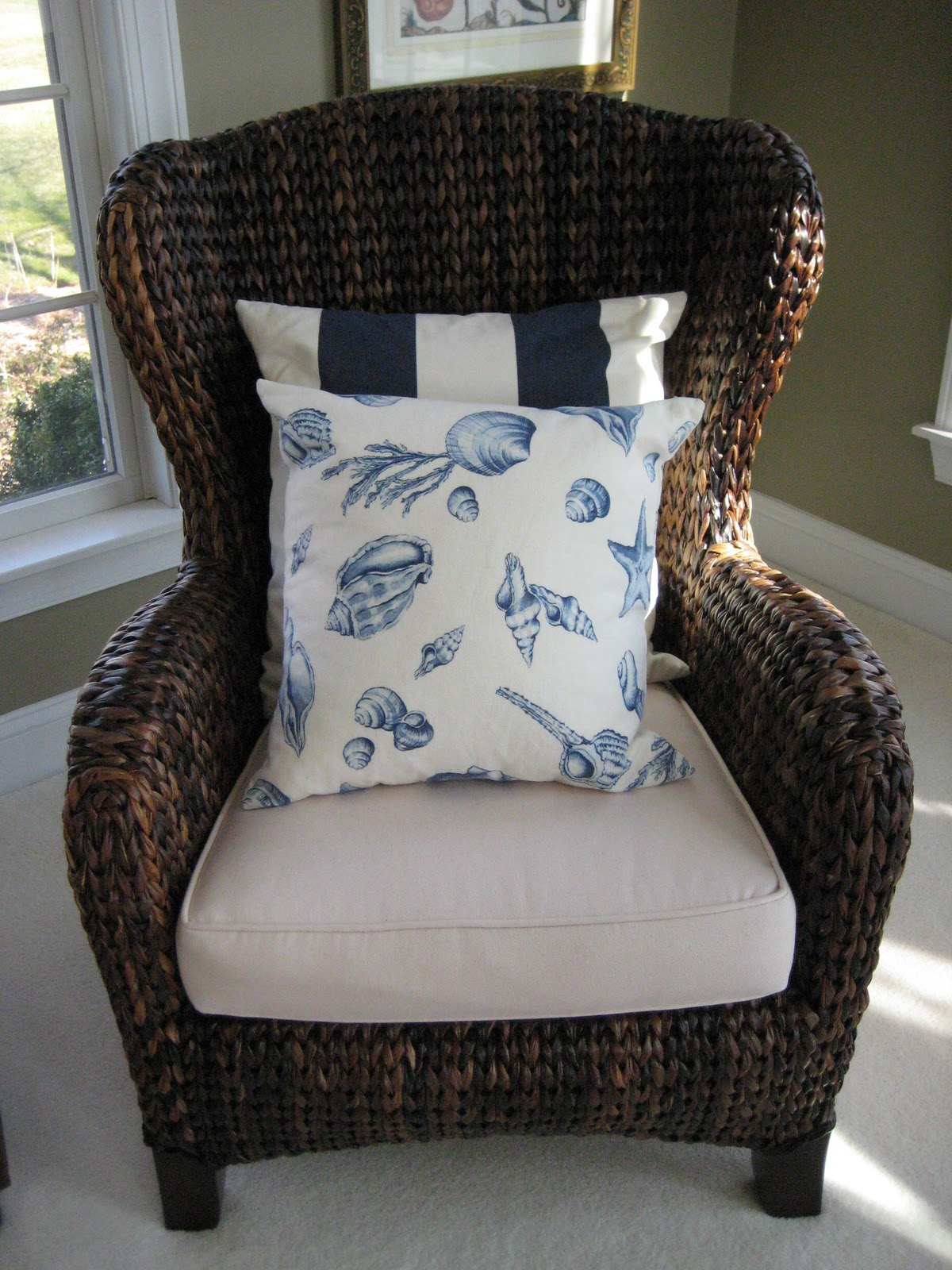 pottery barn seagrass chair ball office chairs island seating calypso in the country