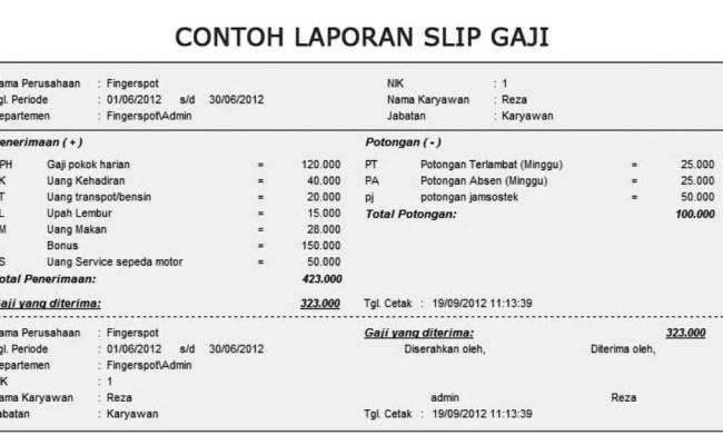 Contoh Form Slip Gaji Bulanan Jawat Kosong Cute766