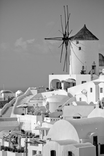 What to do in Santorini: Photograph the Oia Windmill.