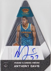 12/13 Panini Preferred Anthony Davis Silver Auto
