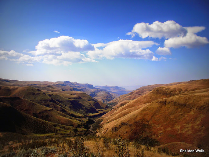 Sani Pass stretching out into the distance