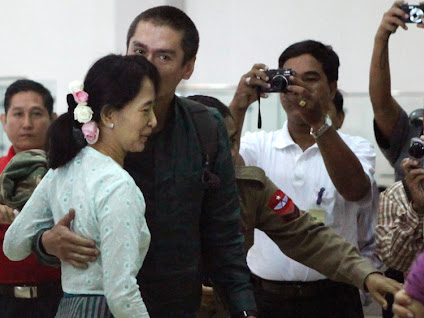 Aung San Suu Kyi, Her Husband Michael Aris, Her Sons ...