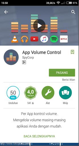 cara setting setiap volume di aplikasi android