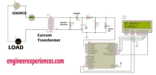 AC current measurement using Atmel AVR Microcontrollers