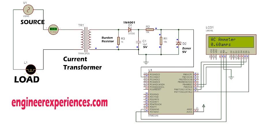 ac current measurement using atmega8 engineer experiences rh engineerexperiences com Fluke Current Clamp low cost ac current sensing