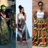 african ankara print maxi skirts 2016