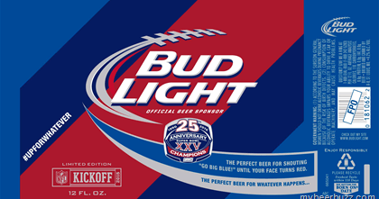 Bud Light  Limited Edition NFL Kickoff Cans  mybeerbuzz