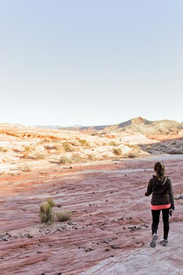 The Valley of Fire Hiking.