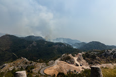 On the way to the Bay of Kotor: Lots of forest fires.