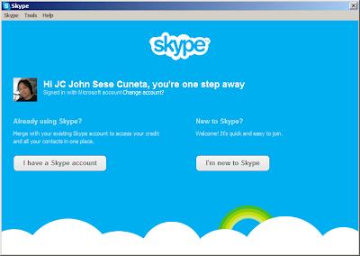 Merge WLM/MSN Messenger with Skype: Step 3