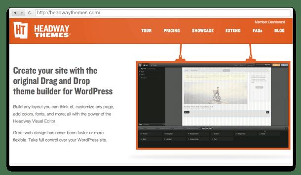 5 Temas Drag and Drop para crear un sitio con WordPress