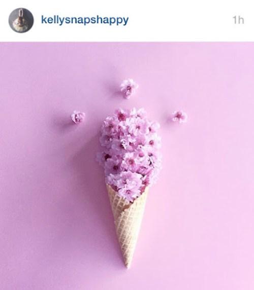 Kellysnaphappy instagram - flowers in icecream cone