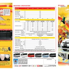 Spesifikasi All New Yaris Trd 2014 Camry V6 Brochure Brosur Avanza 2011 Veloz ...