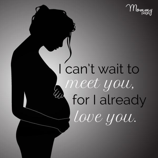 Great I Canu0027t Wait To Meet You, For I Already Love You.