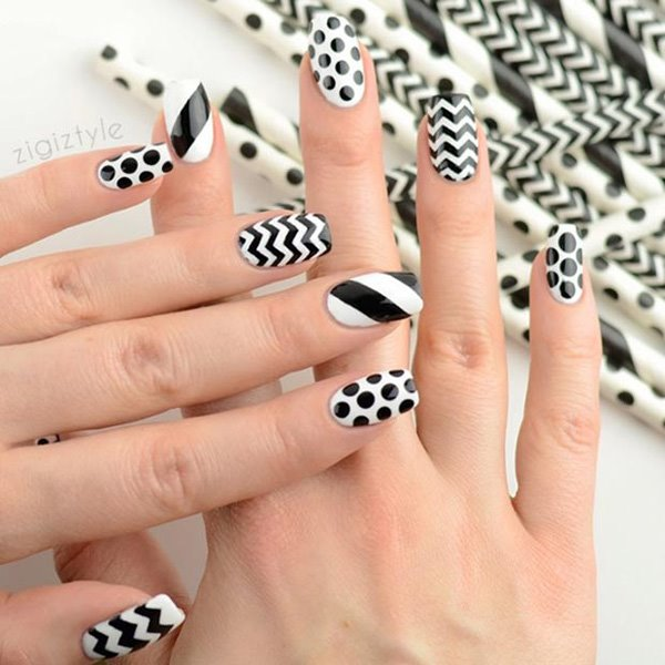 Black and White Nail Designs 2019