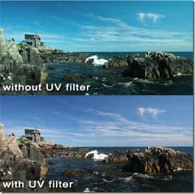 efek menggunakan UV filter