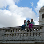 Looking out over the Spanish Steps.