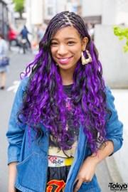 graceful hair makeover purple
