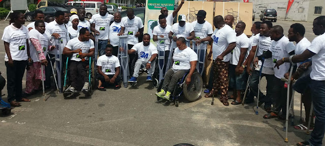 Obafemi Martins Foundation Donates Wheelchairs And Crutches To People With Disabilities. 10
