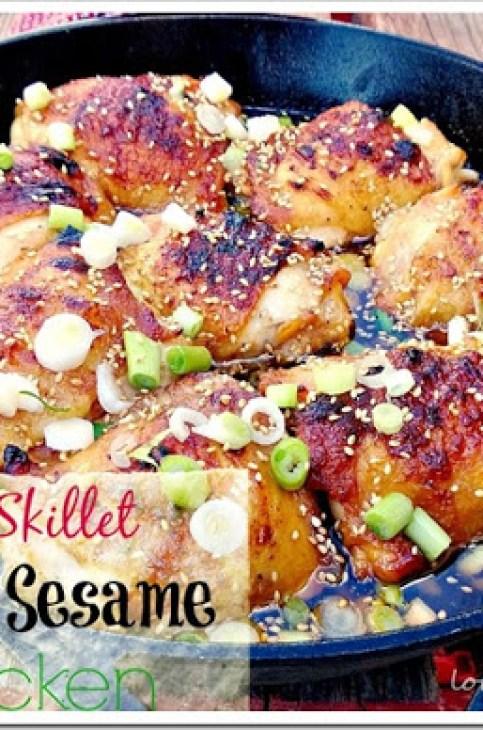 one skillet honey sesame chicken