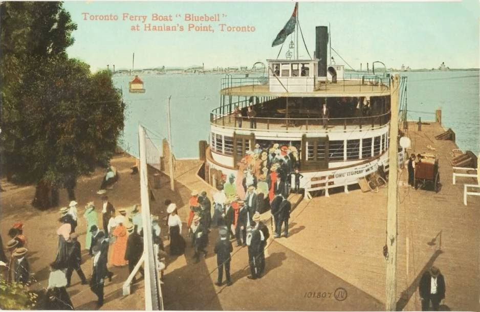 postcard-toronto-island-hanlans-point-ferry-bluebell-crowd-of-passengers-nice-version-1909