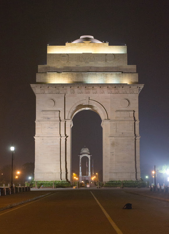 India Gate at night photo