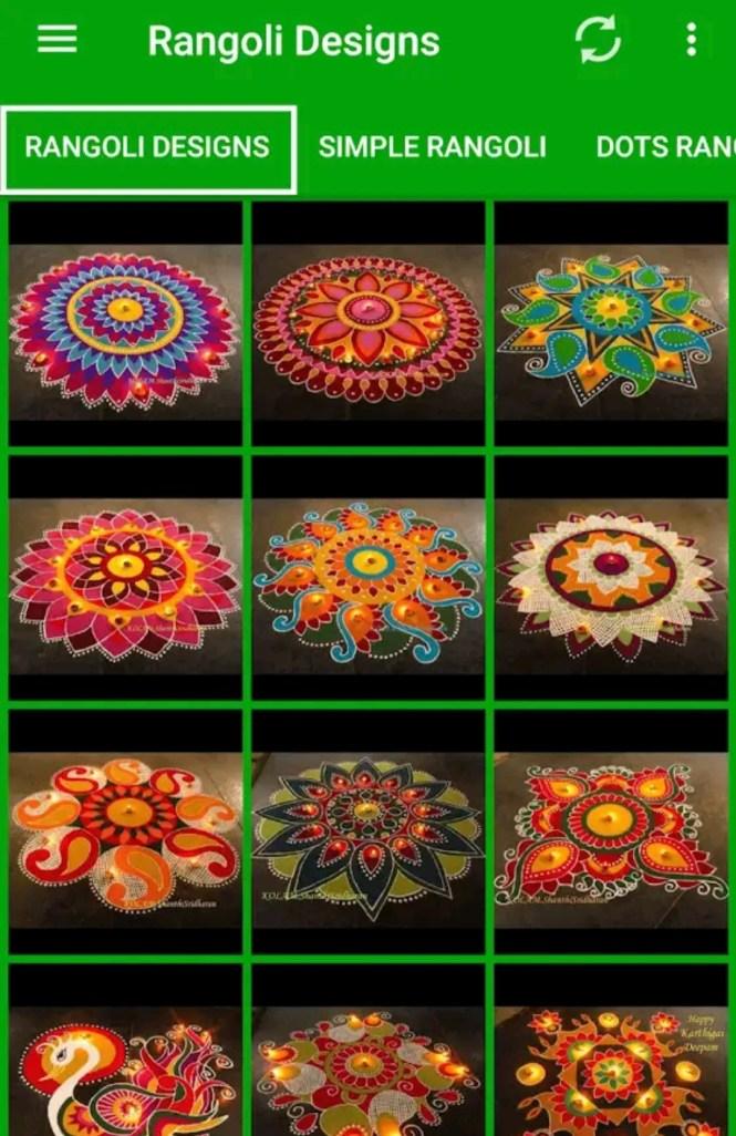 Download 5000+ Latest Rangoli Designs APK For Upcoming Diwali