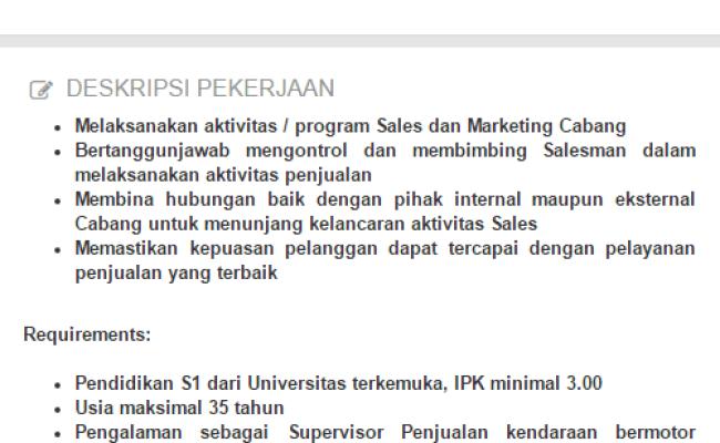 Info Lowongan Kerja Gorontalo Cute766
