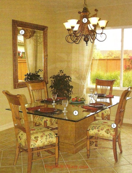 Dinning room- Fonenana - Photo Dictionary