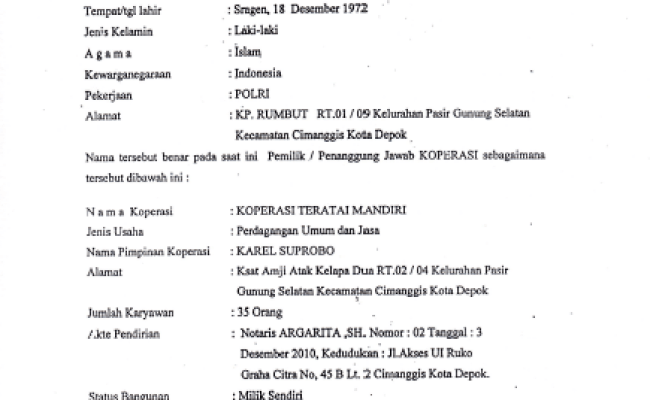 Contoh Surat Domisili Depok Cute766