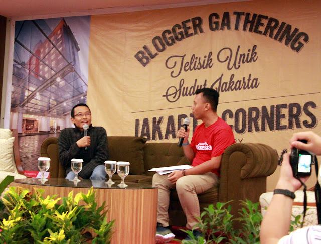 Nara Sumber kece Tegush Sudarisman dan MC keren Arie Goiq sedang membahas Telisik Unik Sudut Jakarta