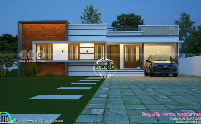 3 Bedroom Cute Kerala Home Plan Budget, Small Budget Home Plans