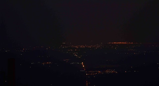 nandi hills at night